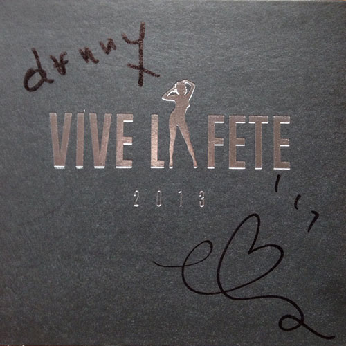 Vive la Fete – 2013 0 signed cd